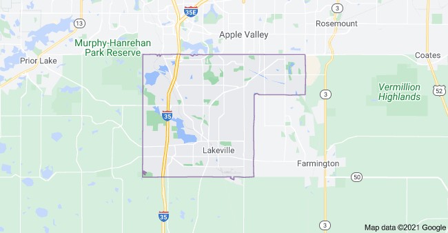 Lakeville Cleaning Area Map